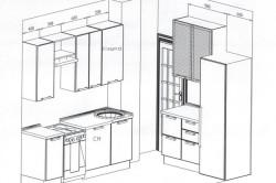 Схема планировки маленькой кухни