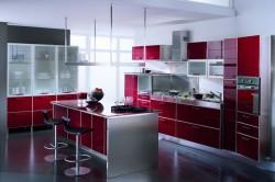 Алюминиевые профиля в интерьере кухни