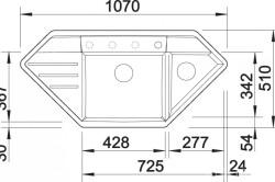 Размеры треугольной мойки из керамогранита