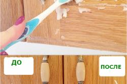 Очистка кухонного шкафа