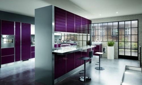 Кухня с закаленным стеклом