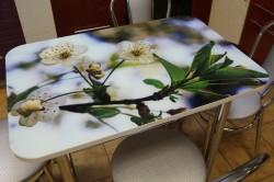Обеденный стол с цветной фотопечатью