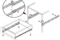 Схема крепления роликовых направляющих в комоде