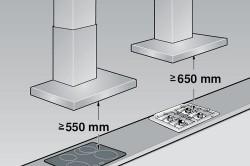 Расстояние между вытяжкой и плитой на газу и на злектричестве