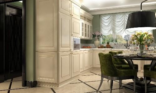 Красивая ванильная кухня
