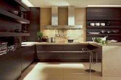Ванильная кухня в стиле хай-тек