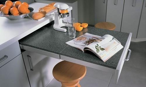 Рисунок 1. Выдвижной стол на кухне