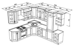 Чертеж наборной кухни