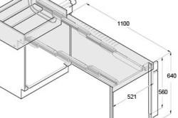 Схема конструкции выдвижного стола