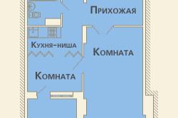 Вариант расположения кухни-ниши в квартире