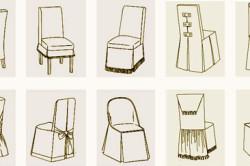Варианты чехлов для кухонных стульев