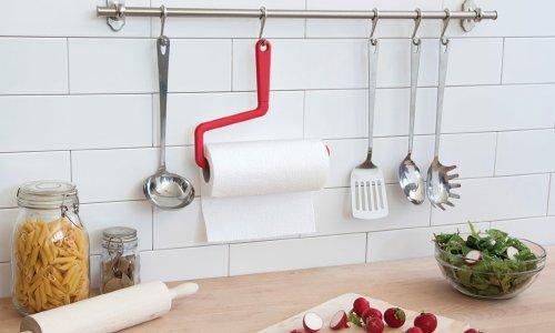 Полотенцедержатель в интерьере кухни