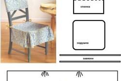 Чехол на стул с квадратной сидушкой