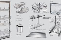 Виды выдвижных систем для кухни