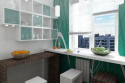 Эргономичная мебель на маленькой кухне