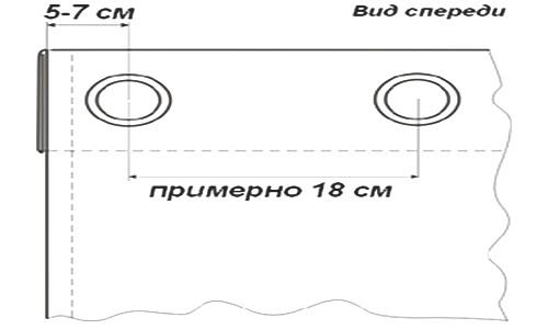 Схема штор на люверсах